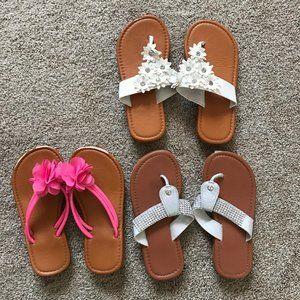 Girls Size 13 Flip Flop Bundle